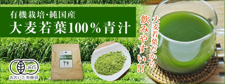 【有機栽培】大麦若葉100%青汁【純国産】大麦若葉だから飲みやすい!