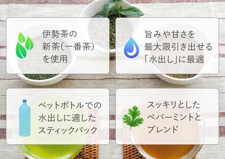 緑茶ミント ほうじ茶ミントの特徴