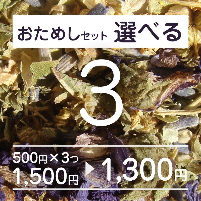 【送料無料】お試し500円pack・選べる3set